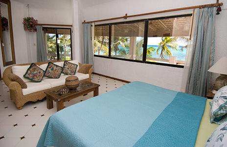 Master bedroom at Seven Seas #6 vacation rental condo in South Akumal