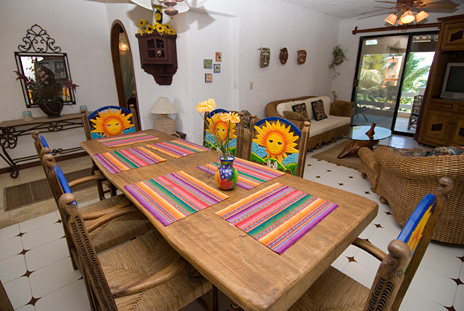 Dining area at Seven Seas #6 Akumal vacation rental property