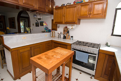 Kitchen of Seven Seas #6 vacation rental condo on South Akumal Bay