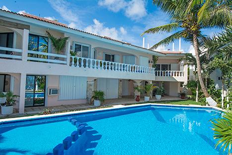 Pool view 7 Seas Vacation Rental Condos in South Akumal Mexico