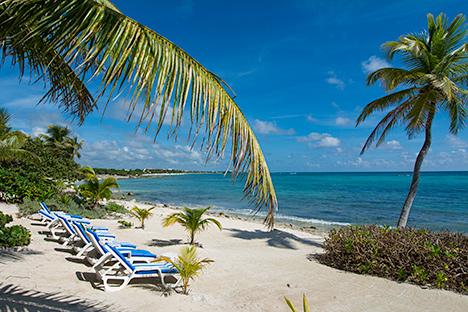 Beach at 7 Seas Vacation Rental Condos in South Akumal Mexico