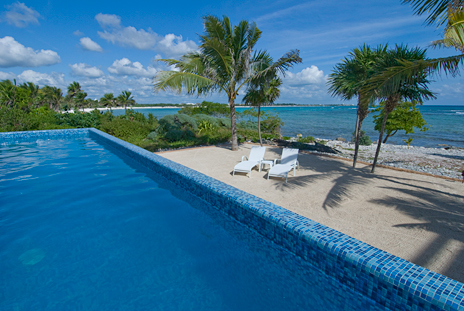 The pool at Alma de la Vida 2 BR vacation rental villa south of Akumal
