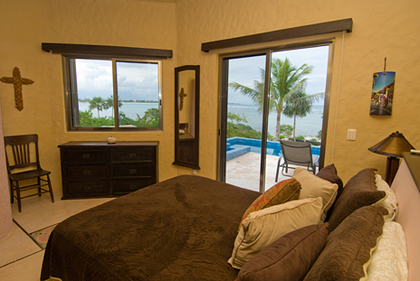 Second bedroom has a queen bed, private bath and ocean views