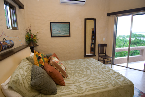 First bedroom has queen bed, private bath and ocean views
