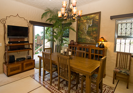 Wide screen TV with bose sound system at Alma de la Vida vacation villa Riviera Maya