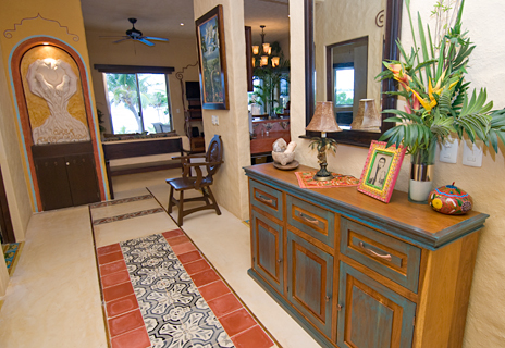 Lovely entry at Alma Vida 2 BR vacation rental villa on Riviera Maya