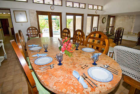 Dining room of Azul Riviera 4 BR Akumal vacation rental home