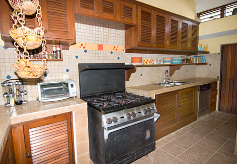 Kitchen of Azul Riviera 4 BR Akumal vacation rental home