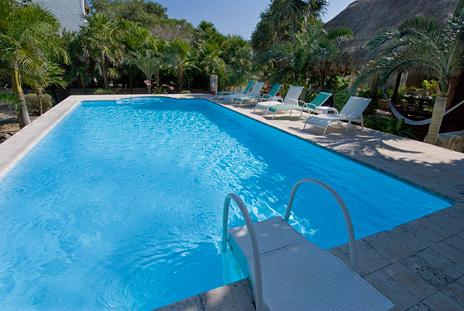 Large pool at Azul Riviera 4 BR Akumal vacation rental home