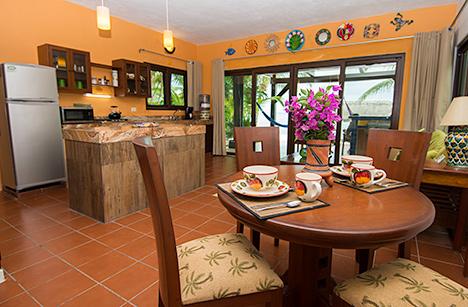 Kitchen dining area Canciones vacation rental