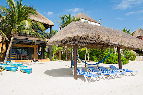 Casa Canciones vacation rental villa on Soliman Bay on Mexico's Riviera Maya
