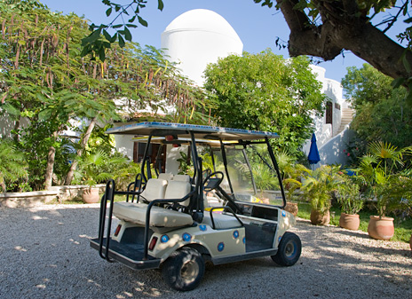 Golf cart for use in Akumal