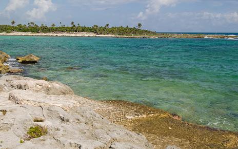 Lagoon access at Casa Bella  akumal vacation rental villa on the Riviera Maya