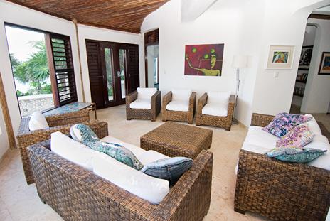 Living room Casa Bella Akumal vacation rental