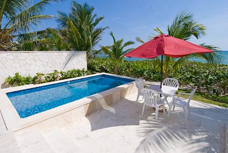 Private pool of Casa Coral condos, Akumal vacation rentals