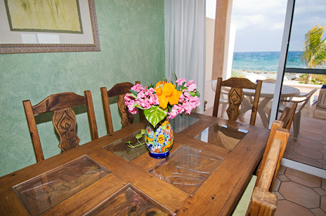 Ocean view dining, Casa del Mar, Riviera Maya vaction rental villa
