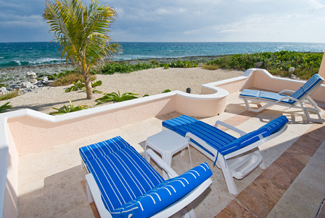 Beach front of Casa del Mar, Riviera Maya vaction rental villa