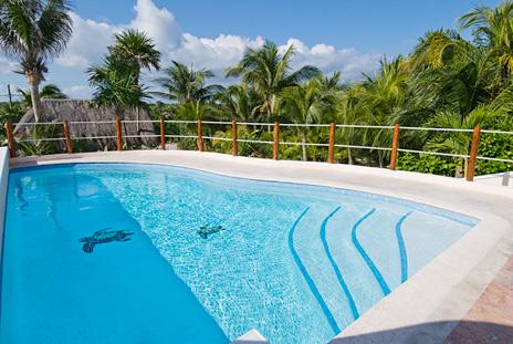 Swimming pool at Casa del Mar, Riviera Maya vaction rental villa