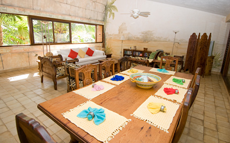 dining room Casa del Sol Akumal vacation rental villa