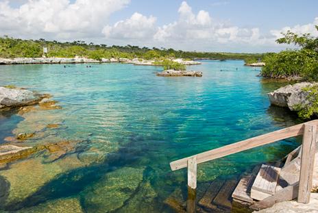 Yal Ku Lagoon access Casa del Sol Akumal vacation rental villa