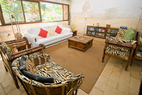 living room Casa del Sol Akumal vacation rental villa