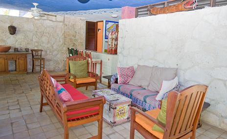 patio Casa del Sol Akumal rental villa