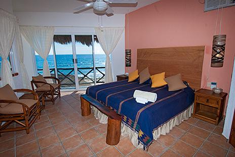 Bedroom Casa Cascadas Akumal Mexico vacation rental villa