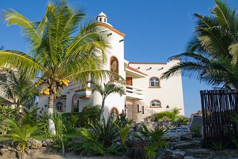 Exterior Casa Cascadas Akumal Mexico vacation rental villa