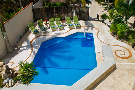 Pool Casa Cascadas Akumal Mexico vacation rental villa