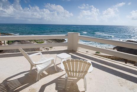 Patio Casa Cascadas Akumal Mexico vacation rental villa