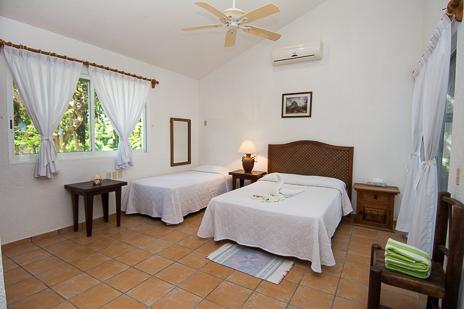 Bedroom Cavu vacation rental villa on Tankah Bay on the Riviera Maya