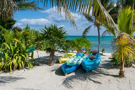 Beach at Casa Cavu vacation rental villa on Tankah Bay on the Riviera Maya