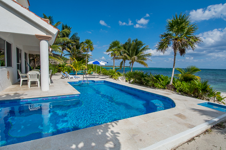 Pool at Cavu 3 BR vacation rental villa on Tankah Bay on the Riviera Maya