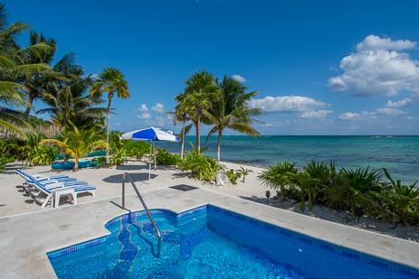 Casa Cavu 3 BR vacation rental villa on Tankah Bay on the Riviera Maya
