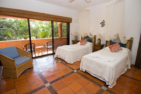 casa cielo bedroom 3 has twin beds