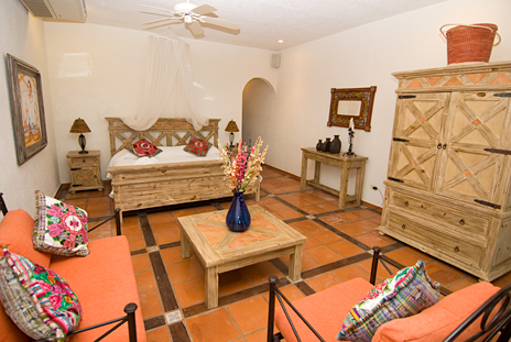 Another view of master bedroom at Casa Cielo Akumal Sur