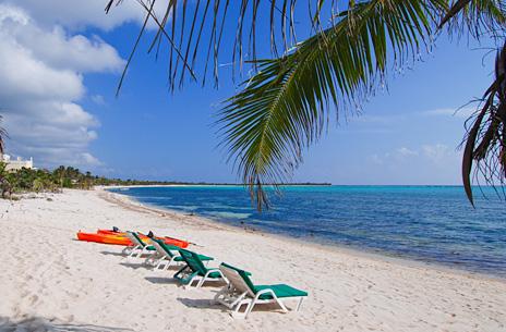 beach at Villa Tres Delfines luxury vacation rental villa on Soliman Bay, Riviera Maya, Mexico
