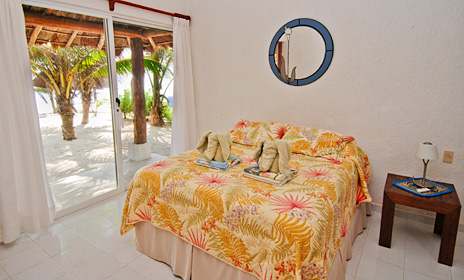 Bedroom #4 at Villa Tres Delfines Soliman Bay vacation rental property, Riviera Maya
