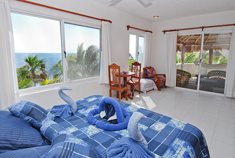 Bedroom #1 at Villa Tres Delfines vacation rental beach home on Soliman Bay