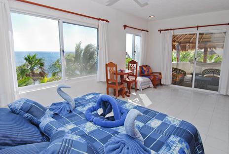 Bedroom #1 at Villa Tres Delfines vacation rental beach home on Soliman Bay