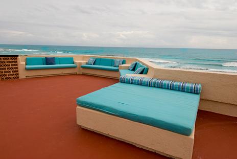 Roof patio Casa Dena Tankah vacation rental