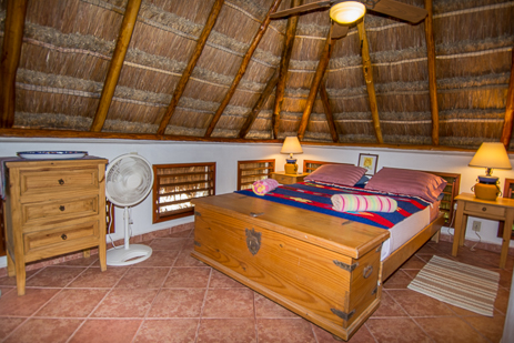 Bedroom #2 at Tropical Evergreens vacation rental home on Soliman Bay