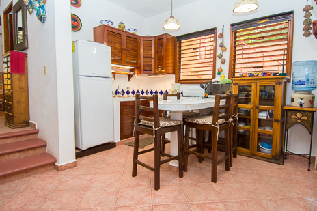 Guesthouse mainfloor kitchen at Tropical Evergreens vacation rental home on Soliman Bay