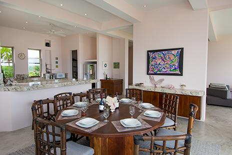 dining area at Villa Fantasea