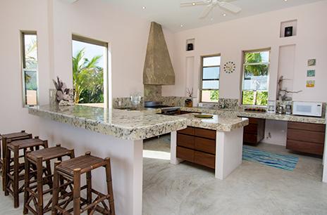 kitchen at Villa Fantasea