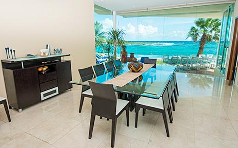 Villa Gauguin dining room Akumal Mexico
