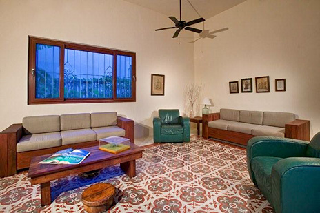Another living area at Hacienda Corazon vacation villa on the Riviera Maya