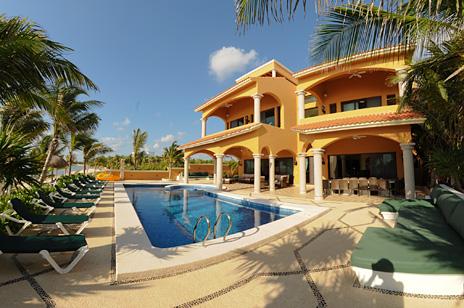 Hacienda Caracol vis a 2-story vacation rental villa on Soliman Bay on the Riviera Maya