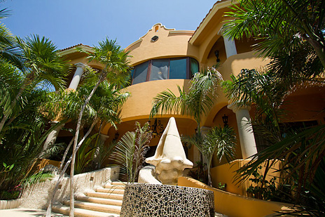 Front view of Hacienda Caracol luxury Mexico villa
