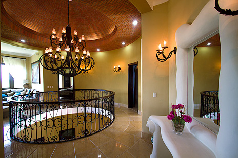 Second level foyer in hacienda caracol luxury villa in Mexico